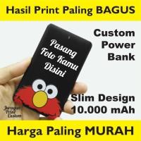 Jual Power Bank CUSTOM 10.000mAh MURAH PRINT 2 MUKA Powerbank 10000mAh Murah