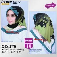 Jual Jilbab Segiempat Zenith Satin Motif 10 By Azzura Premium Hijab Square Murah