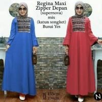 Jual cn 6960 liona maxi dress terusan gamis syari batik songket etnik Murah