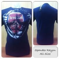 Jual (Murah) Kaos Premium Spandex 3D Sepakbola Arsenal BC207 Murah