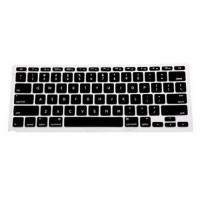 Jual Color Silicone Keyboard Cover Skin for Macbook Air 13 / Pro Black Murah