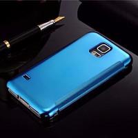 Jual 3. Samsung Galaxy S5  Smart Flip Slim View Clear Mirror Hard Case Murah