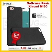 Case HP Xiaomi Mi5c Mi 5C 5 C Backdoor Back Cover Casing Soft Pasir