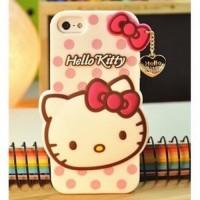 Jual Cute Hello Kitty Polkadot TPU Case for iPhone 5/5s/SE White Murah