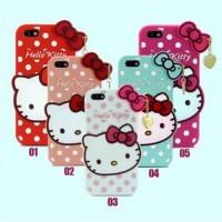 Jual Cute Hello Kitty Polkadot TPU Case for iPhone 5/5s/SE Magenta Murah