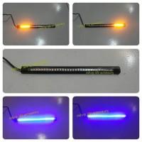 Jual lampu drl+sen led flexible motor mobil untuk box motor/behel/plat nomo Murah