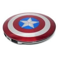 Jual Power Bank Perisai Captain America 2 Port 6800mAh Barang Terbatas Murah