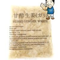 Jual (Sale) Sushi Ginger Gary White-  Acar Jahe Putih 1 Kg Murah