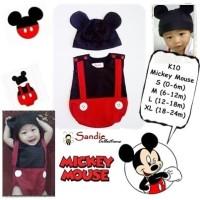 Jual Baju Bayi Lucu Mickey Mouse Murah
