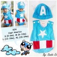 Jual Baju Kostum Bayi Jumper Captain America Murah