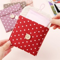 Dompet tempat pembalut tissue mini Tas kain traveling motif poladot