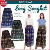 Jual [PROMO] Lebaran Long Ethnic Songket Skirt Rok Etnik Panjang (RK093) Murah