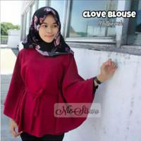 Jual Clove Blouse Elona Batwing Top High Quality Rina Blouse Atasan BL1050 Murah