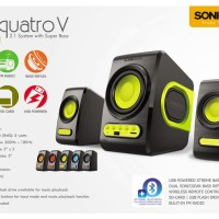 Jual (Diskon) Speaker Sonic Gear Quatro V - speaker + FM Radio USB Murah