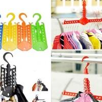 Jual Magic Hanger/Gantungan Baju Multifungsi Portabel Lipat Banyak Pakaian Murah