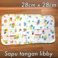 3 pcs Sapu Tangan Libby Cotton Bahan Lembut