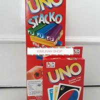 Jual mainan edukasi anak paket uno stacko blok dan kartu uno Murah Murah
