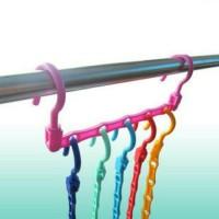 Jual (Sale) gantungan baju warna warni / magic hanger colourfull Murah