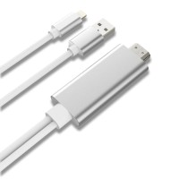 Harga kabel lightning iphone 5 6 7 ipad 4 mini air pro ke hdmi lcd tv | Pembandingharga.com