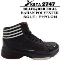 Jual Sepatu Basket Merek KETA Murah 2747 Black Red Murah