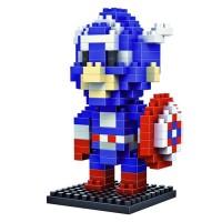 Jual LDL 116 Lego Action Figure Nano Blocks World Series Captain America Murah