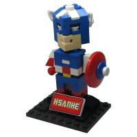 Jual Hsanhe 6324 Action Figure Lego Cube Micro World Series Captain America Murah