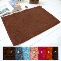 Jual Keset microfiber anti slip chennile floor mat kamar mandi cendol fiber Murah