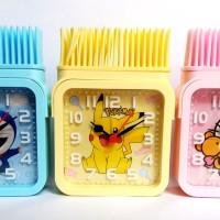 Jual Jam Weker Karakter Model Kotak Sikat Motif Hello Kitty Doraemon Pikach Murah