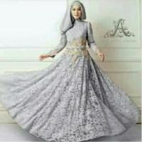Gamis Queen Brukat Putih Syar i limited