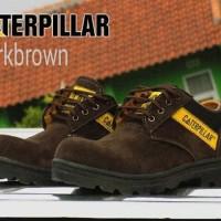 rral pic/ld/sandal caterpillar semi boots murah suede coklat tua murah