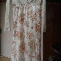 Baju Gamis Dress Wanita Brokat Sequin Abu Syari Preloved Second Bekas