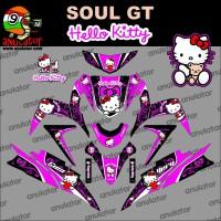 Jual Sticker striping motor stiker Yamaha Mio Soul GT Hello Kitty 2 Spec Murah