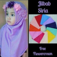 Jual Jilbab Siria Flower Crown Kerudung Bayi Mahkota Flower Murah Murah