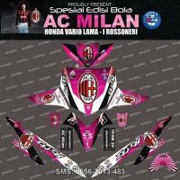 Stiker Striping Honda vario AC milan Pink Spec B