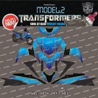 Stiker Striping Yamaha Mio soul gt blue circuit board Spec B