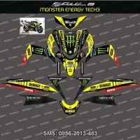 Stiker Striping Yamaha Mio Soul GT Tech3 monster energy Spec B