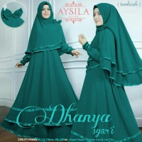 new dress gamis dhanya syari wolfis tosca