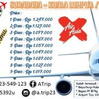 Tiket Pesawat Air Asia : Surabaya-Kuala Lumpur / Kul-Sbya