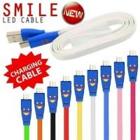 KABEL SMILE WARNA / MICRO USB LAMPU / KABEL CAS / POWER BANK SAMSUNG