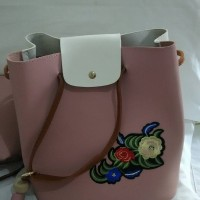 Tas Wanita Import original 2 in 1 Promo Merk terkenal Enji collection