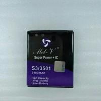 Baterai Batre Double Power + IC Advan S3 3501 Battery Original