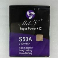 Baterai Batre Double Power + IC Advan S50A Battery Original