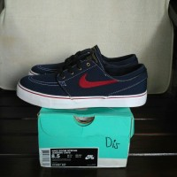 Nike Stefan Janoski Canvas Obsidian-Team Red-White
