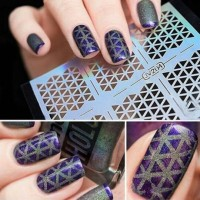 1 Lembar Nail Art Hollow Stiker