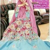 DeltaRN Grace Syari Biru Gamis Syar i Modern Baju Muslim Wanita Kekin
