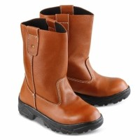 sepatu sneakers wanita Safety Boot Pria kulit coklat Golfer GF 2104