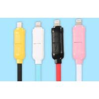 Remax 2 in 1 Kabel Lightning Micro USB - RC-27t Murah
