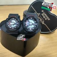 Best Seller Jam Tangan Couple / Pasangan Romantis GA-110 Black Grey