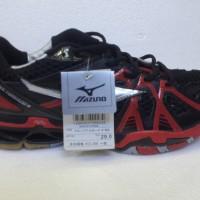 Sepatu Mizuno Wave Tornado 9 Low Black Red Premium Quality