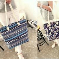 Tote Bag Motif / Totebag Kanvas / Shoulder Bag